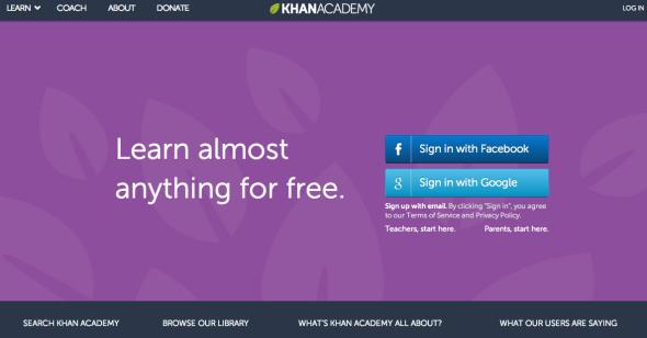 khan academy site