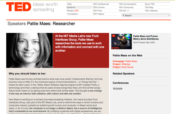 pattie maes on ted