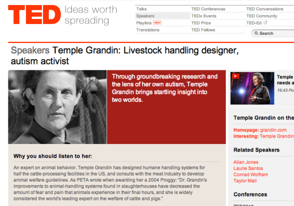 temple grandin on ted site