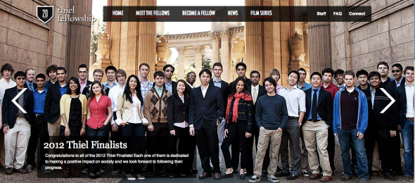 thiel fellowship site