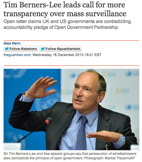 tim berners lee for transparency