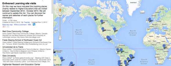 enlivened learning map