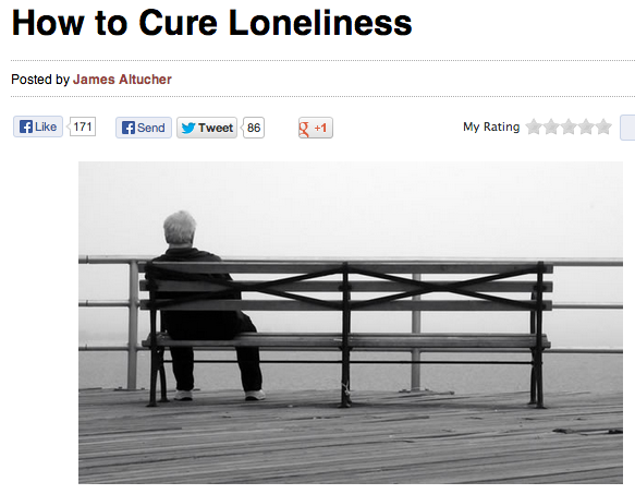 how to cure loneliness