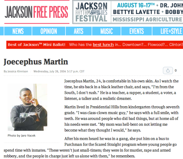joecephus on jackson press