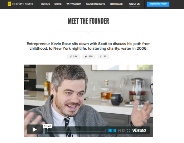 charity water founder