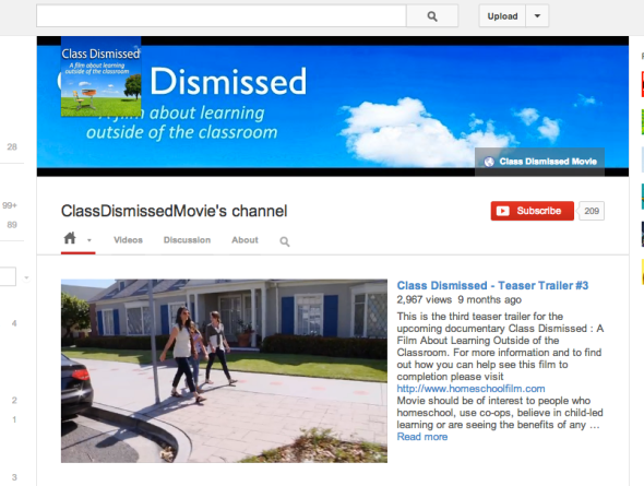 class dismissed youtube page