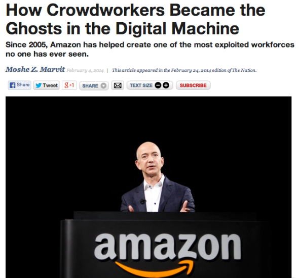crowdworking at amazon