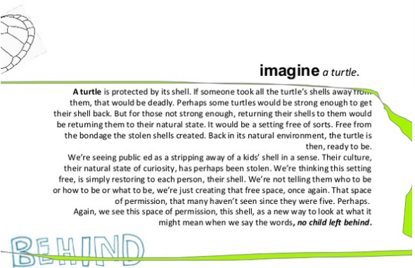 imagine a turtle