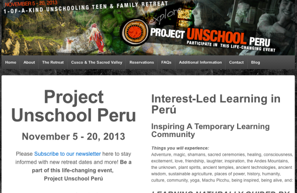 project unschool peru