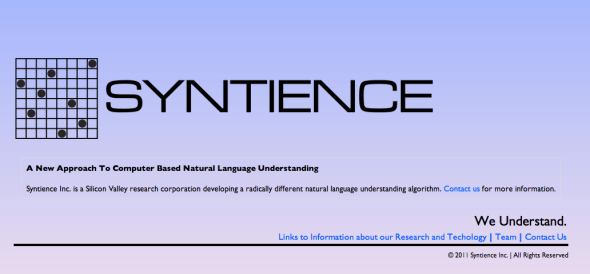 syntience site