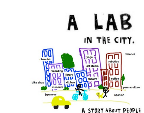 a lab in the city