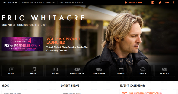 eric whitacre site