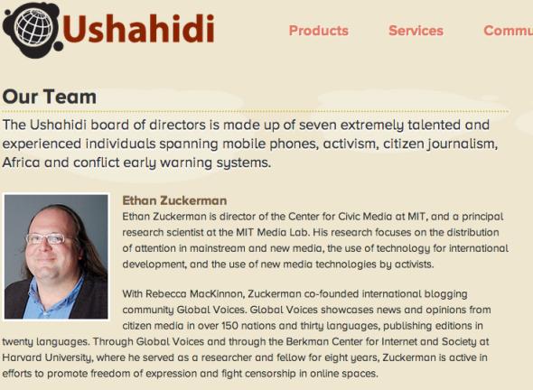 ethan on ushahidi