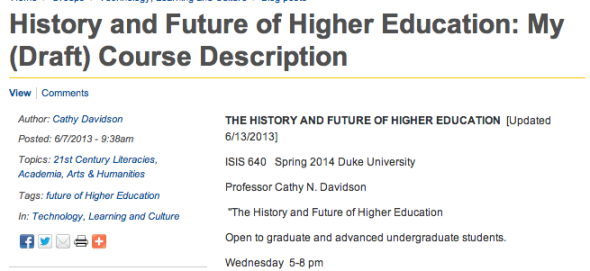 history and future of higher ed