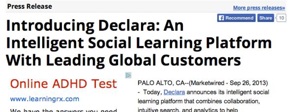 introducing declara