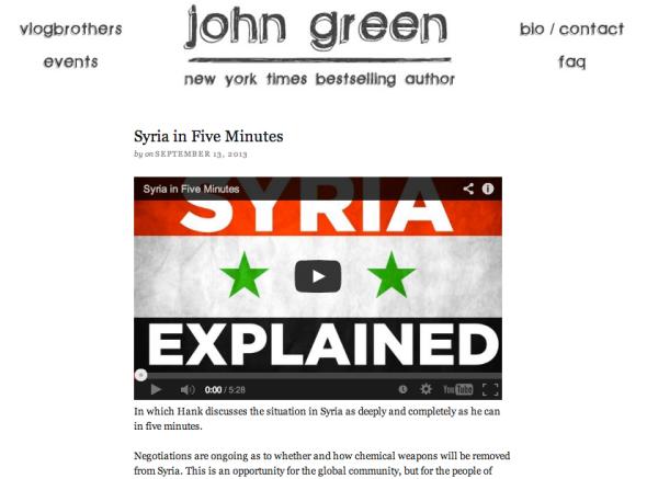 john green site