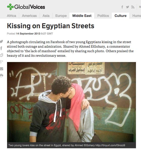 kissing on egypt