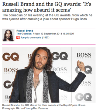 russell brand and gq awards