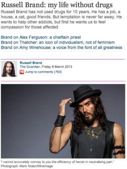 russell brand on addiction