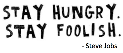 stay hungry stay foolish stack