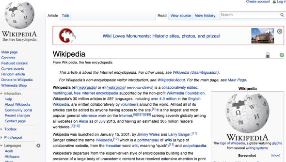 wikipedia on wikipedia