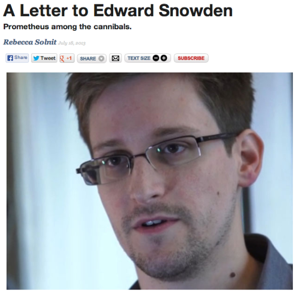 a letter to snowden