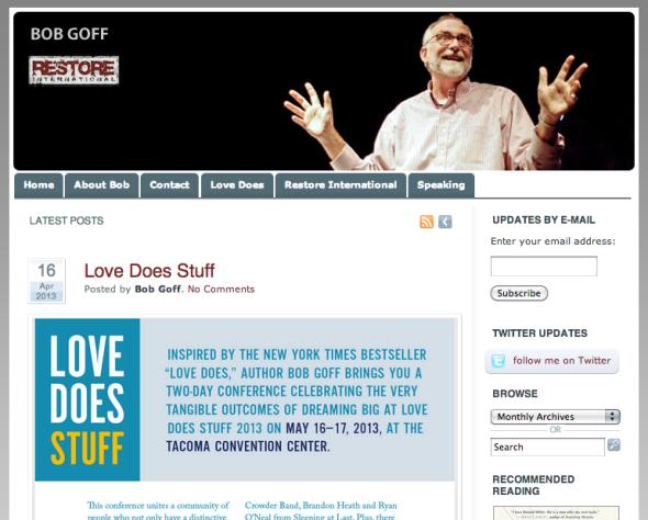 bob goffs site