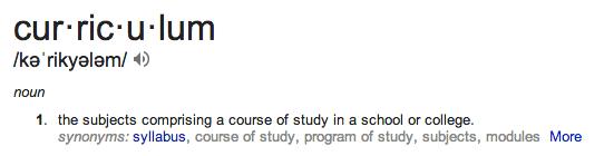 curriculum defn