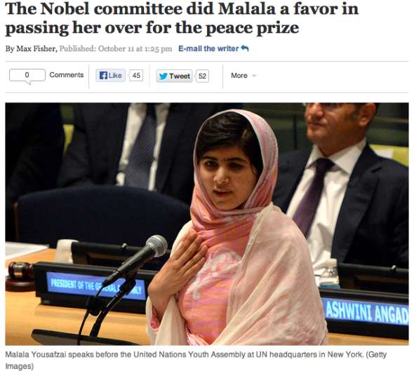malala and noble prize