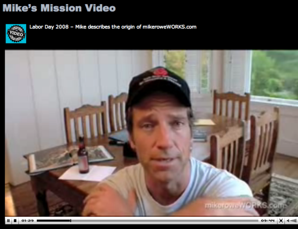 mike rowe's mission