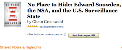 no place to hide on amazon kindle