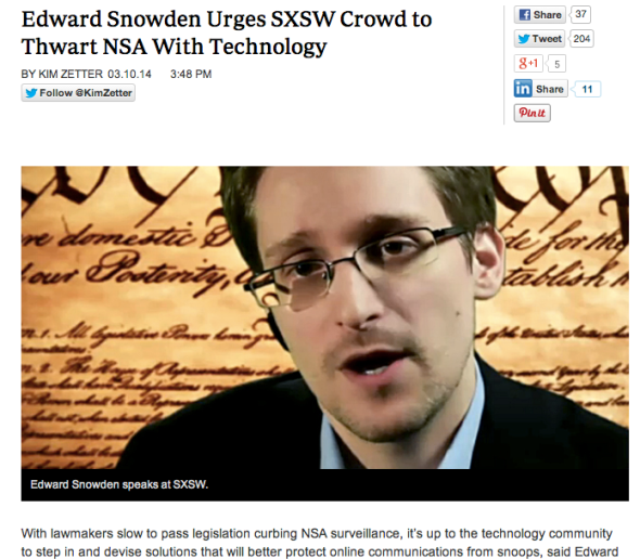 snowden at sxsw