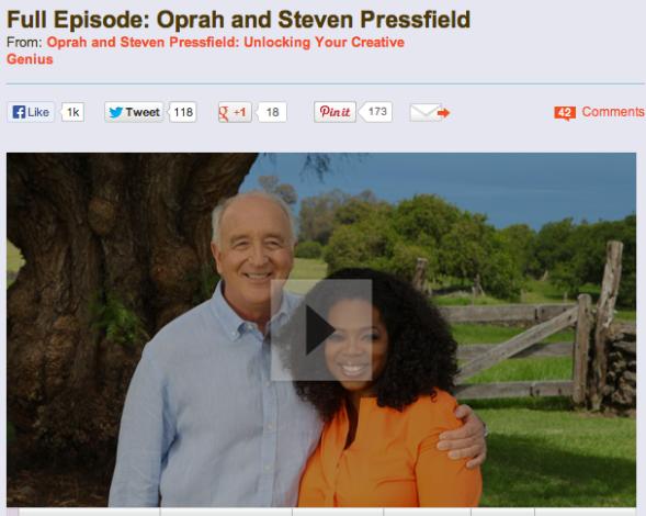 steven pressfield on oprah