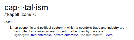 capitalism defn