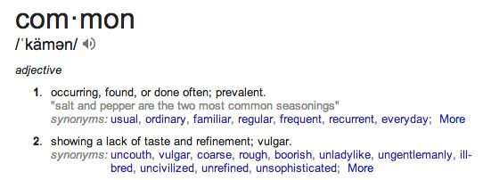 common defn