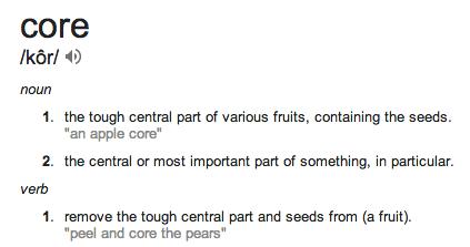 core verb defn