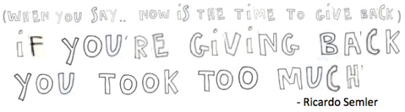 if you're giving back semler