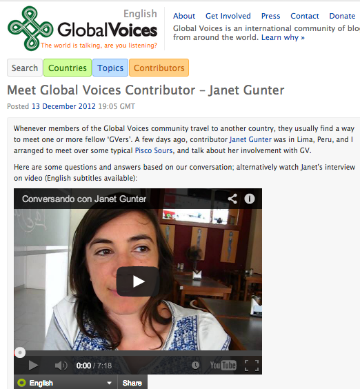janet on global voices