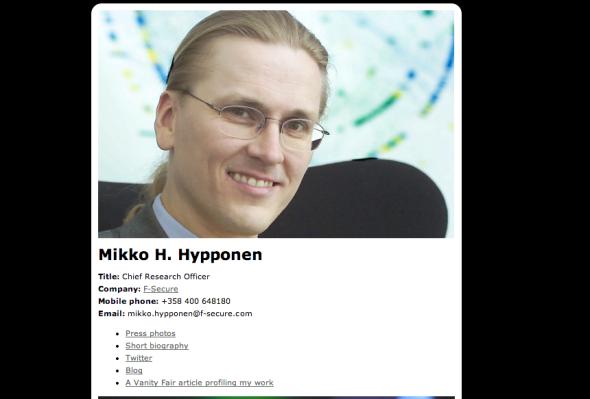 Mikko Hypponen site