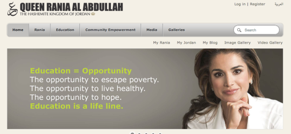 queen rania site
