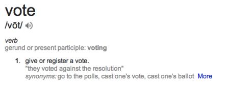vote defn