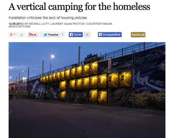 a vertical camping for homeless