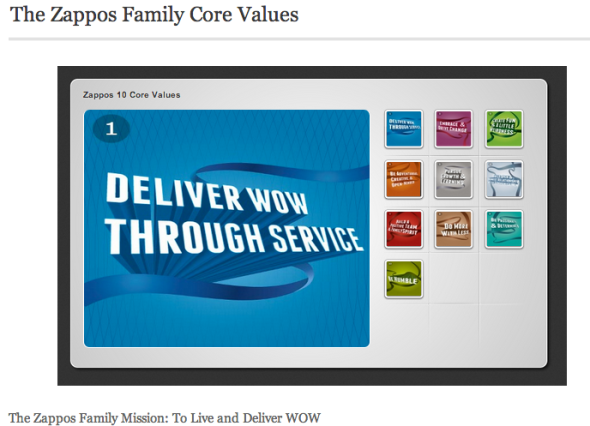 core values zappos