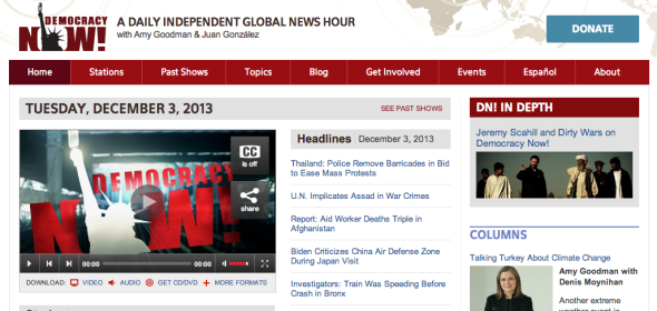 democracy now site