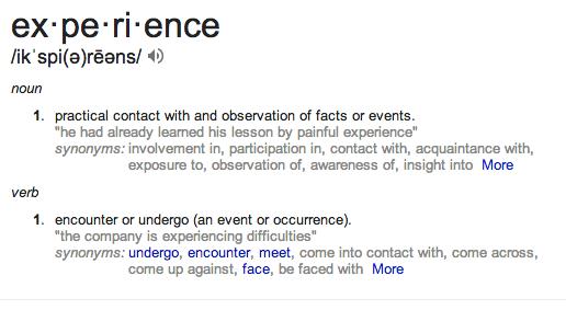 experience defn