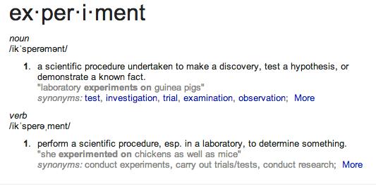 experiment defn