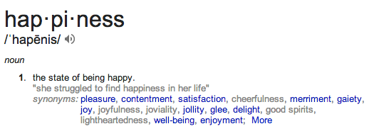 happiness defn