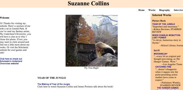 suzanne collins site