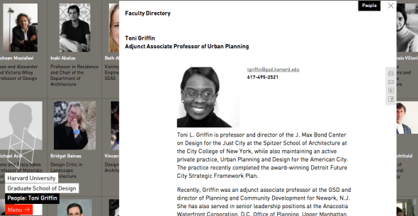 toni griffin on harvard site