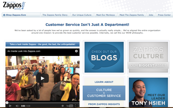 zappos site about